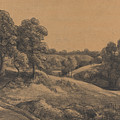 Wooded Slope With A Receding Road by John Constable
