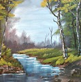 Wooded Stream by Larry Hamilton