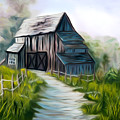 Wooden Barn Dreamy Mirage by Claude Beaulac