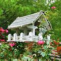 Wooden Bird House On A Pole 4 by Jeelan Clark