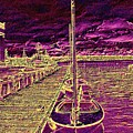 Wooden Boat Moorage by Tim Allen