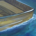 Wooden Boat -rear by Amie  La Voie-Moore
