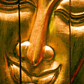 Wooden Buddha Face by Ray Laskowitz - Printscapes