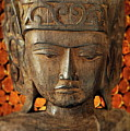 Wooden Buddha by John Greim