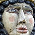 Wooden Carving In Santa Fe 8 by Tamara Kulish