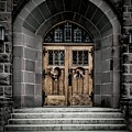 Wooden Church Door In Stone Archway by Chester Wiker
