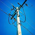 Wooden Electric Pole by Jeelan Clark