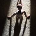 Wooden Figurine by Bernard Jaubert