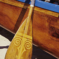 Wooden Paddle And Canoe by Joss - Printscapes