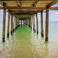 Wooden Pier Stretching Into The Sea by Julia Sahin