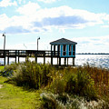 Wooden Pier With Pavilion by Jeelan Clark