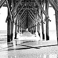 Wooden Post Under A Pier On The Beach by Panoramic Images