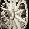 Wooden Wagon Wheel by David Millenheft