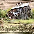 Wooden Water Mill by James Steele