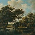 Woodland Pond by Meindert Lubbertsz