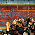 Woodpile With Taste - Dr Pepper Rustic Antique Red Country Southwest by Jon Holiday