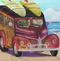 Woody On Beach by Douglas Harn