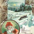 Woolson Spice Company Christmas Card by John Henry Bufford