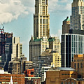 Woolworth Building From Hudson River by Allan Einhorn