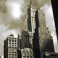Old New York Photo - Historic Woolworth Building by Peter Potter