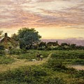 Worcestershire Cottages by Benjamin William Leader