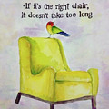 The Right Chair by Bonny Butler