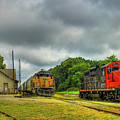 Work Horse Trains 3 Madison Georgia Locomotive Art by Reid Callaway