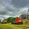 Work Horse Trains 7 Madison Georgia Locomotive Art by Reid Callaway