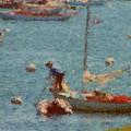Work These Sails Honey Boothbay Harbor Maine by Viktor Arsenov