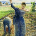 Workers In The Fields 1896-97 Camille Pissarro by Eloisa Mannion