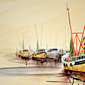 Working Boats by Shirley Sykes Bracken