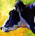 Working Girl - Holstein Cow by Marion Rose