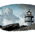 Working Lighthouse Isolated On White by Dvoevnore Photo