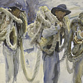 Workmen At Carrara by John Singer Sargent