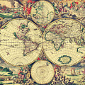 World Map 1689 by Lucia Sirna
