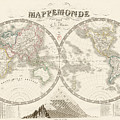 World Map - 1842 by Art Makes Happy