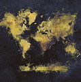World Map Art 65 by Justyna JBJart