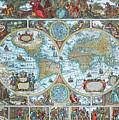 World Map by Jutta Maria Pusl