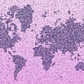 World Map Kotak In Purple by Eleven Corners