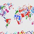 World Map Music 3 by Bekim Art