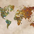 World Map Oriental by Justyna JBJart
