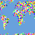 World Map Palette by C H Apperson