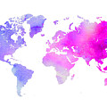 World Map Watercolor  by Voros Edit