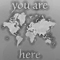 World Map Zona You Are Here In Black And White by Eleven Corners