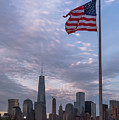 World Trade Center Freedom Tower New York City American Flag by Terry DeLuco