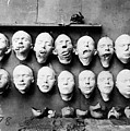 World War I Masks, 1918 - To License For Professional Use Visit Granger.com by Granger