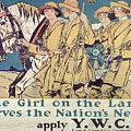 World War I Ywca Poster  by Edward Penfield