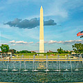 World War Two Memorial And Washington Monument by Nick Zelinsky