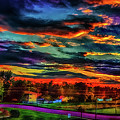 World's Most Psychedelic Autumn Sunsset by Ron Fleishman