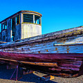 Worn Weathered Boat by Garry Gay